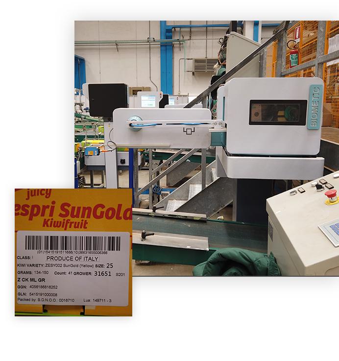 biometic optilabel flexible labeling system applications